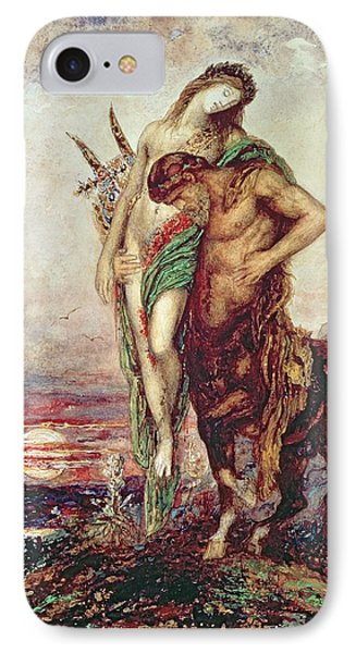 Dead Poet Borne By Centaur IPhone Case by Gustave Moreau