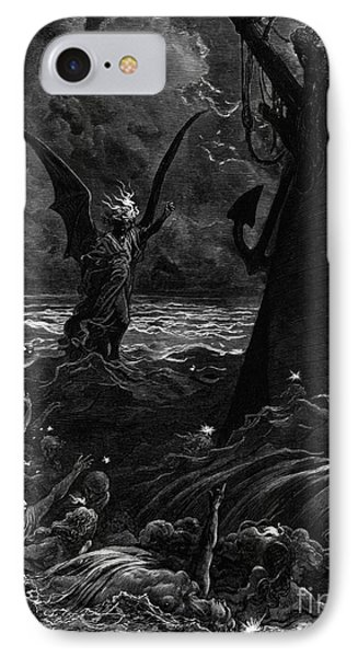 Death-fires Dancing Around The Becalmed Ship IPhone Case by Gustave Dore