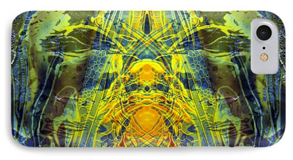 Decalcomaniac Intersection 1 IPhone Case by Otto Rapp