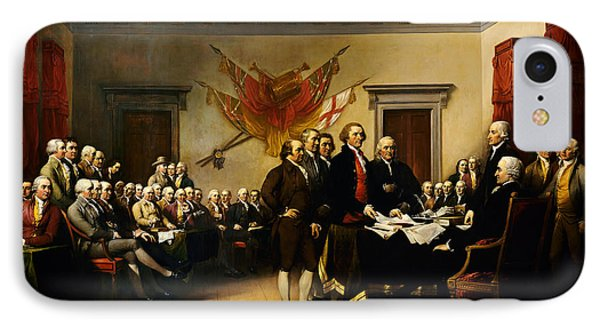 Declaration Of Independence IPhone Case by MotionAge Designs