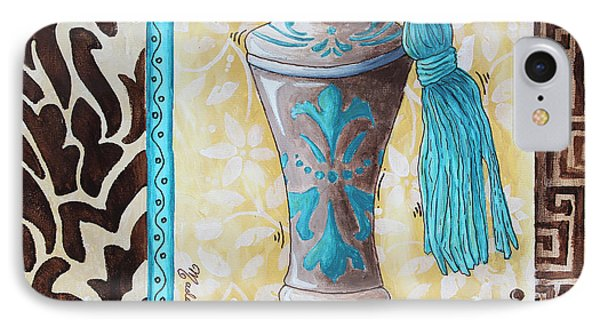 Decorative Bathroom Bath Art Original Perfume Bottle Painting Luxe Perfume By Madart Phone Case by Megan Duncanson