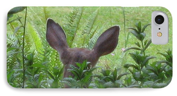 Deer Ear In A Mint Patch Phone Case by Kym Backland