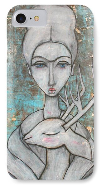 Deer Frida IPhone 7 Case by Natalie Briney