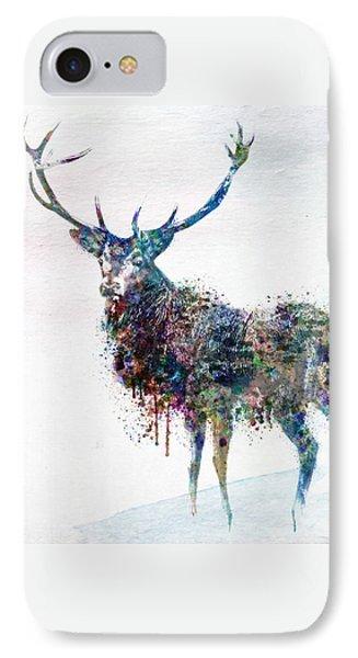 Deer In Watercolor IPhone Case by Marian Voicu