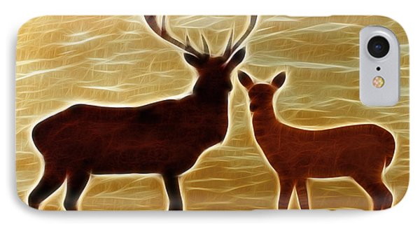 Deers Lookout Phone Case by Georgeta Blanaru