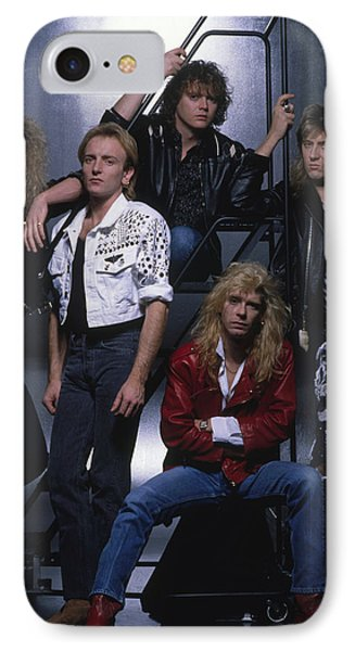 Def Leppard - Group Stairs 1987 IPhone 7 Case by Epic Rights