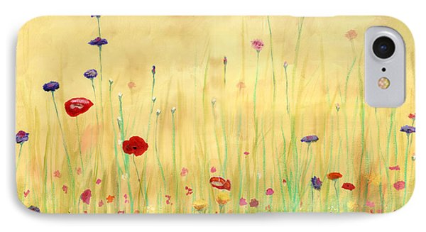 Delicate Poppies Phone Case by Cecilia Brendel