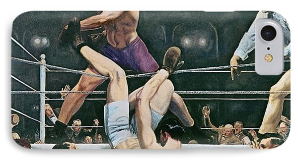 Dempsey V Firpo In New York City IPhone Case by George Wesley Bellows