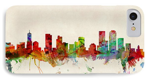 Denver Colorado Skyline Phone Case by Michael Tompsett
