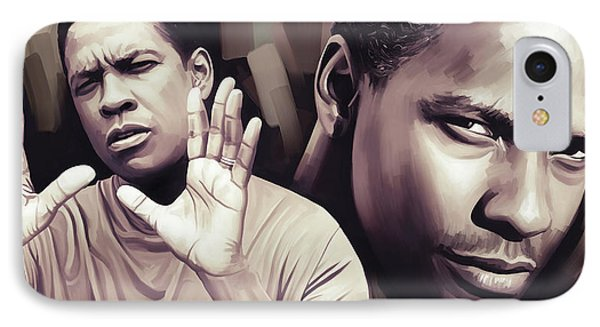Denzel Washington Artwork IPhone Case by Sheraz A