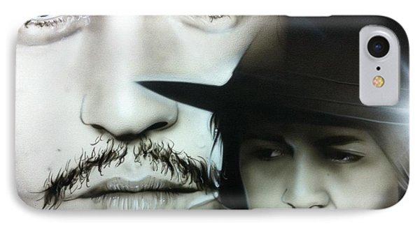Johnny Depp - ' Depp ' IPhone 7 Case by Christian Chapman Art