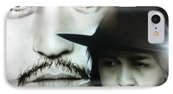 Johnny Depp - ' Depp ' IPhone Case by Christian Chapman Art