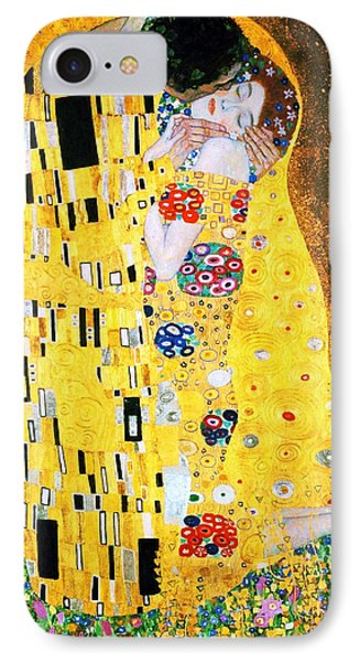 Der Kuss Or The Kiss By Gustav Klimt IPhone Case by Pg Reproductions