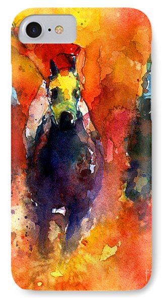 Derby Horse Race Racing IPhone Case by Svetlana Novikova