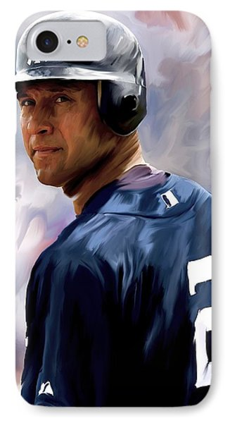 Derek Jeter  IPhone 7 Case by Iconic Images Art Gallery David Pucciarelli