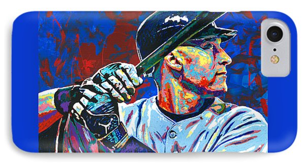 Derek Jeter Phone Case by Maria Arango