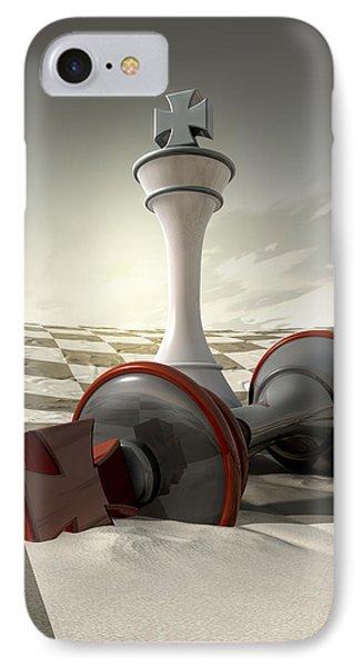 Desert Chess Defeat IPhone Case by Allan Swart