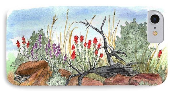 Desert Wildflowers Phone Case by Cathie Richardson