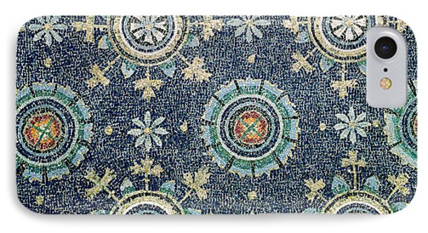 Detail Of The Floral Decoration From The Vault Mosaic IPhone Case by Byzantine