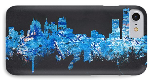 Detroit Michigan Usa IPhone Case by Aged Pixel