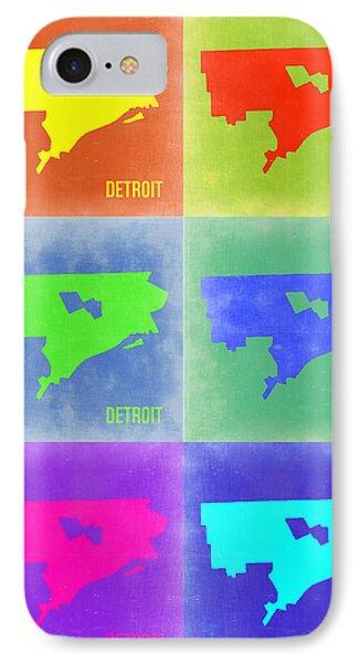 Detroit Pop Art Map 3 IPhone Case by Naxart Studio