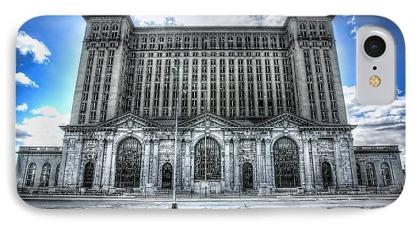Detroit's Abandoned Michigan Central Train Station Depot Phone Case by Gordon Dean II