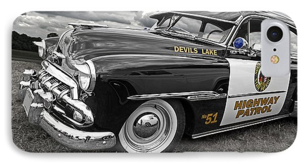 Devils Lake Highway Patrol - '51 Chevy IPhone Case by Gill Billington