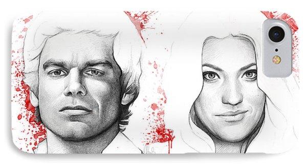 Dexter And Debra Morgan IPhone Case by Olga Shvartsur