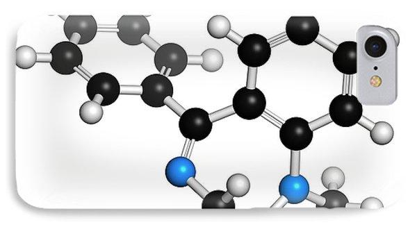 Diazepam Benzodiazepine Drug Molecule IPhone Case by Molekuul
