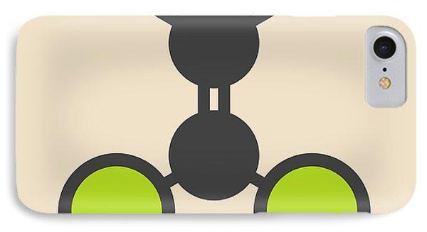 Dichloroethene Molecule IPhone Case by Molekuul