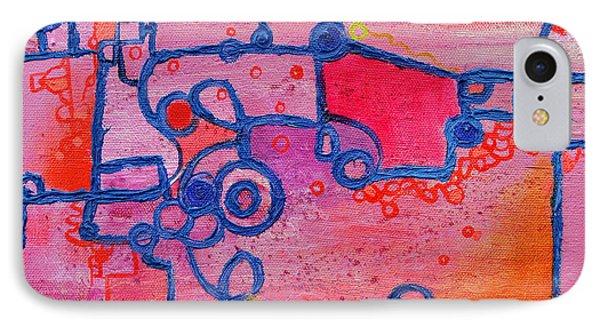 Dichotomy  Original Abstract Oil Painting By Regina Valluzzi Phone Case by Regina Valluzzi