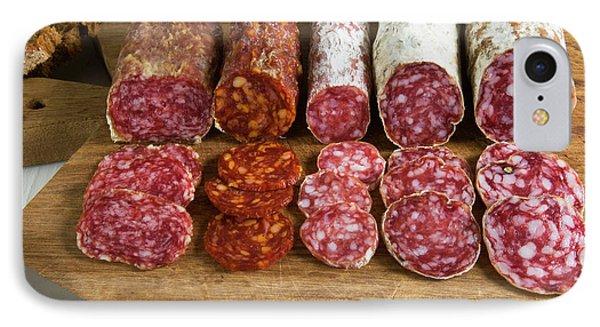 Different Type Of Tuscan Salami IPhone Case by Nico Tondini