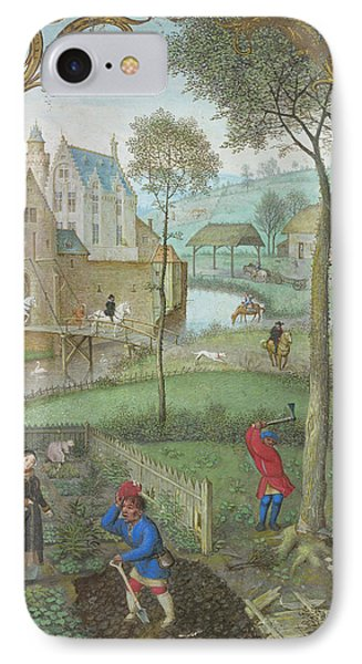 Digging And Tree-felling IPhone Case by British Library