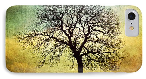 Digital Art Tree Silhouette IPhone Case by Natalie Kinnear