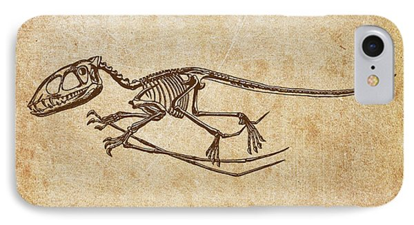 Dinosaur Pterodactylus IPhone Case by Aged Pixel