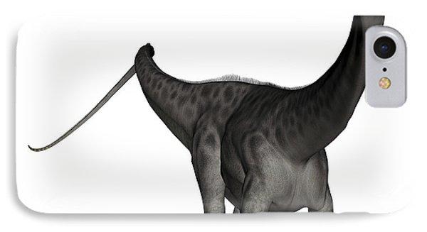 Diplodocus Dinosaur IPhone Case by Elena Duvernay