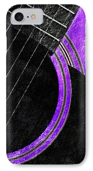 Diptych Wall Art - Macro - Purple Section 2 Of 2 - Vikings Colors - Music - Abstract IPhone Case by Andee Design