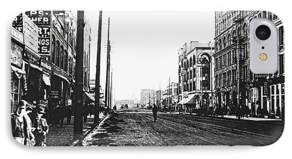 Downtown Dirt Spokane C. 1895 Phone Case by Daniel Hagerman