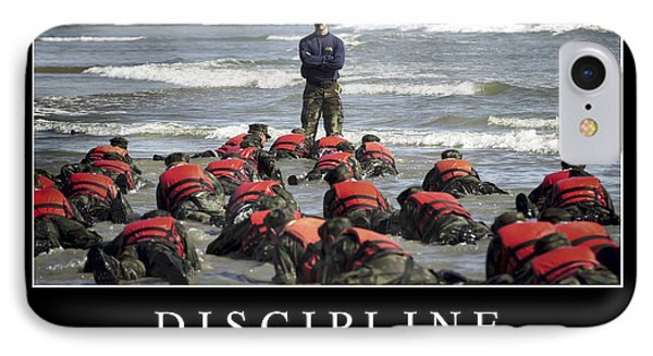 Discipline Inspirational Quote IPhone Case by Stocktrek Images
