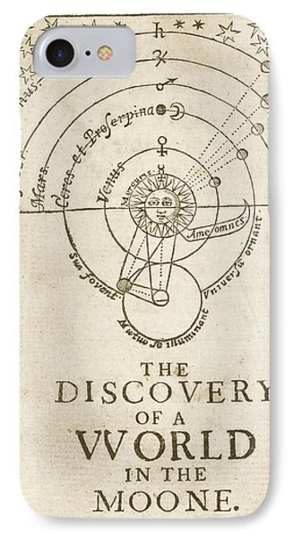 Discovery Of A World In The Moone (1638) IPhone Case by Library Of Congress