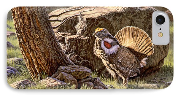 Displaying--blue Grouse IPhone Case by Paul Krapf