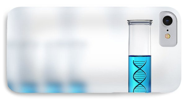 Dna Research Or Testing In A Laboratory IPhone Case by Johan Swanepoel