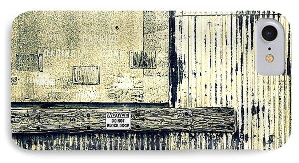 Do Not Block Door Phone Case by Valentino Visentini