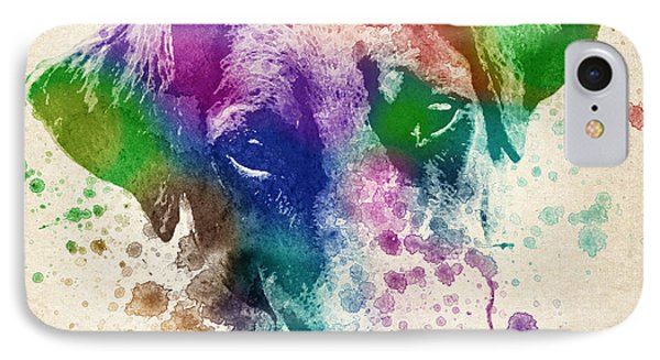 Doberman Splash IPhone Case by Aged Pixel