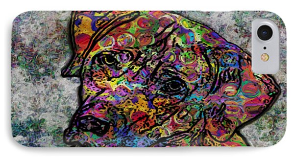 Dog With Color IPhone Case by Jack Zulli