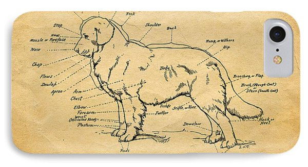 Doggy Diagram IPhone Case by Tom Mc Nemar