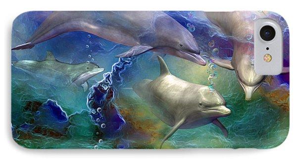 Dolphin Dream IPhone 7 Case by Carol Cavalaris