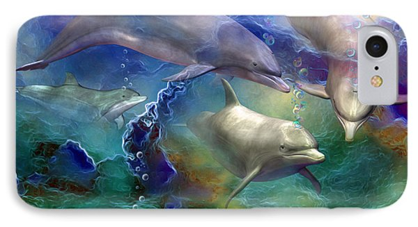 Dolphin Dream IPhone Case by Carol Cavalaris