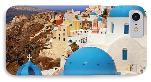 Domes Of Santorini Phone Case by Brian Jannsen