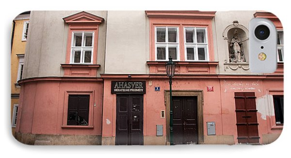Door Choices In Prague Phone Case by John Rizzuto